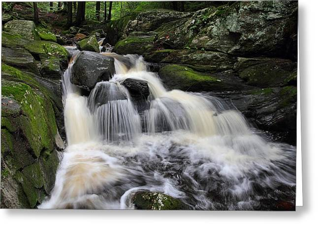Rushing Water Greeting Card by Mike Farslow