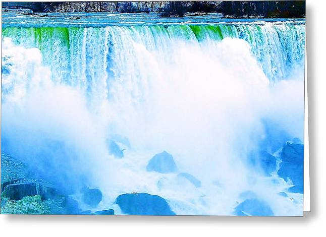 Greeting Card featuring the photograph Rushing Waters by Al Fritz