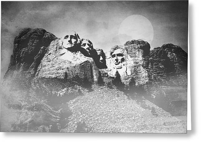 Rushmore At Night Greeting Card by Roy  McPeak