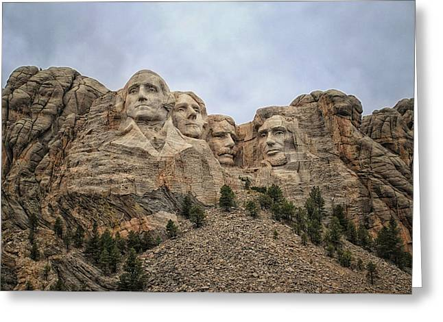 Rushmore Greeting Card by Tricia Marchlik