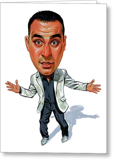 Russell Peters Greeting Card by Art