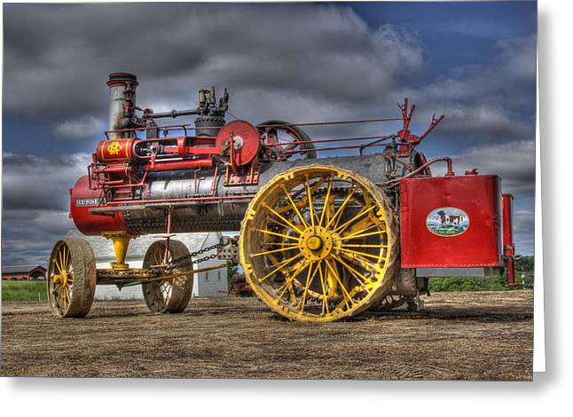 Russell Steam Greeting Card by Shelly Gunderson