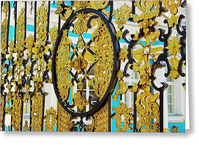 Russia, Pushkin Gate Detail Greeting Card by Jaynes Gallery