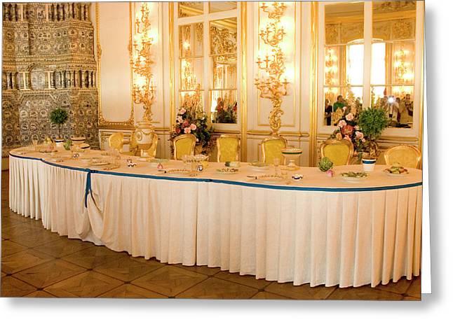 Russia, Pushkin Interior Room Greeting Card by Jaynes Gallery