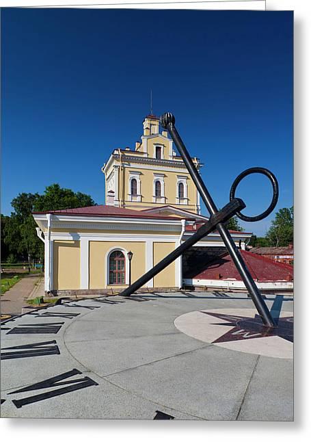 Russia, Saint Petersburg, Kronshtadt Greeting Card by Walter Bibikow