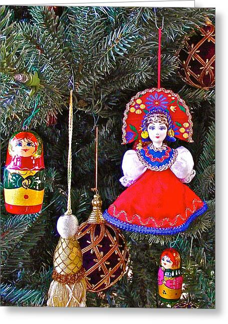 Russian Christmas Tree Decoration In Fredrick Meijer Gardens And Sculpture Park In Grand Rapids-mi Greeting Card