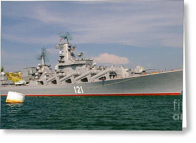 Russian Cruiser Moskva Greeting Card