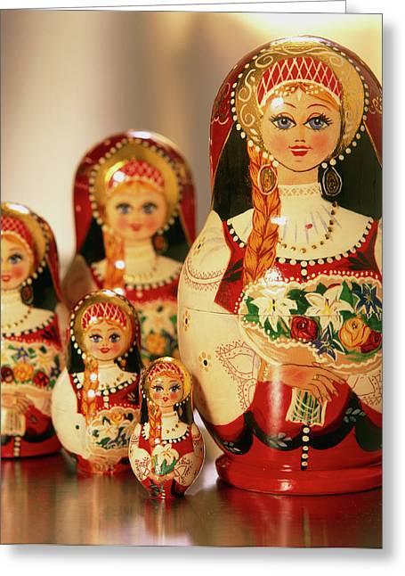 Russian Dolls Greeting Card