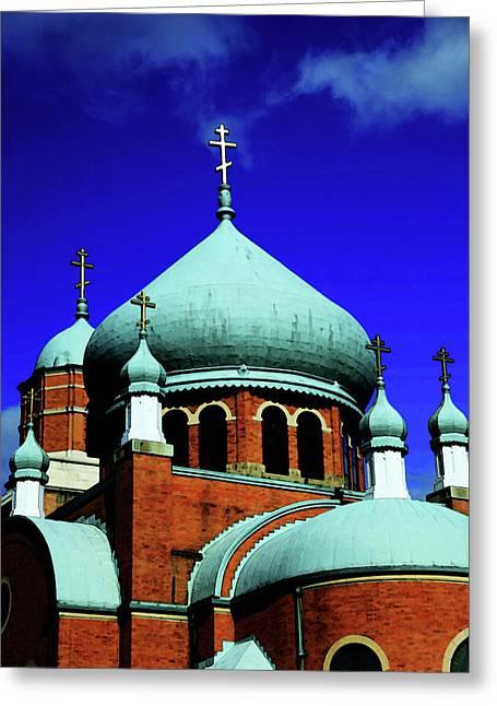 Russian Orthodox Church Greeting Card by Karol Livote