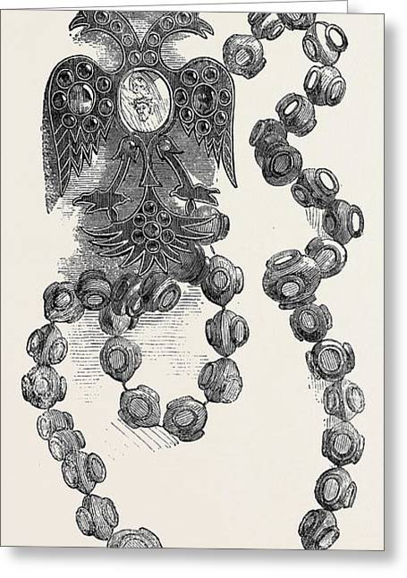 Russian Rosary, Or Reliquary Greeting Card