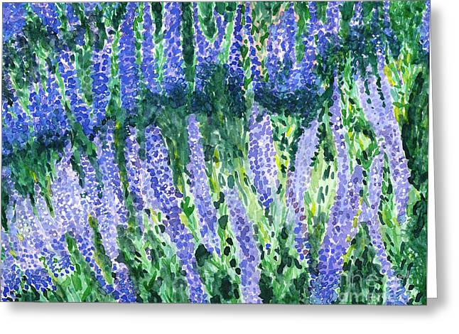 Russian Sage Greeting Card by Amy-Elyse Neer