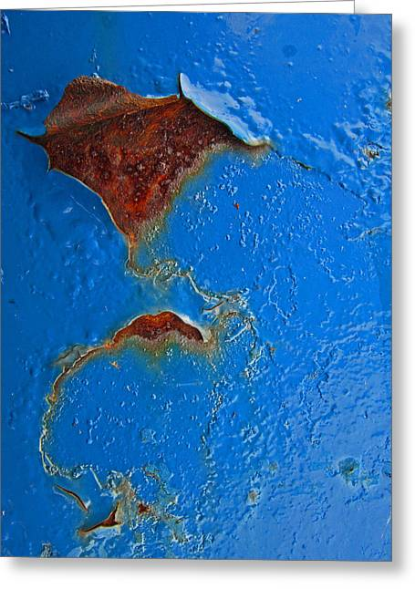 Rust Abstract Greeting Card by Mary Bedy