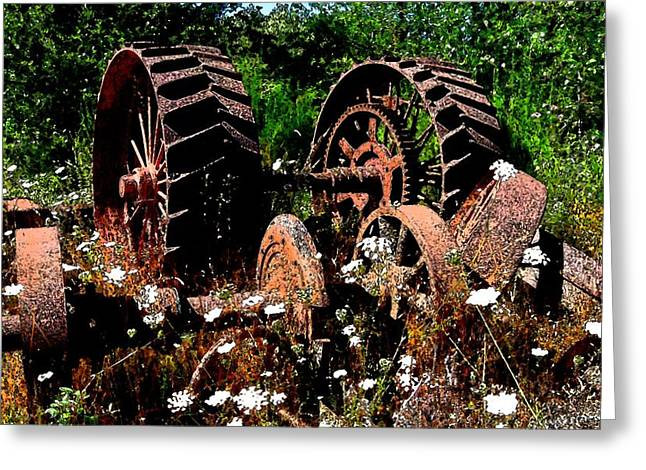 Rust And Wheels Greeting Card