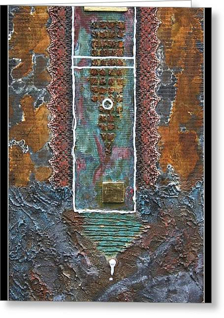 Rust-art 02 Greeting Card by Gertrude Scheffler
