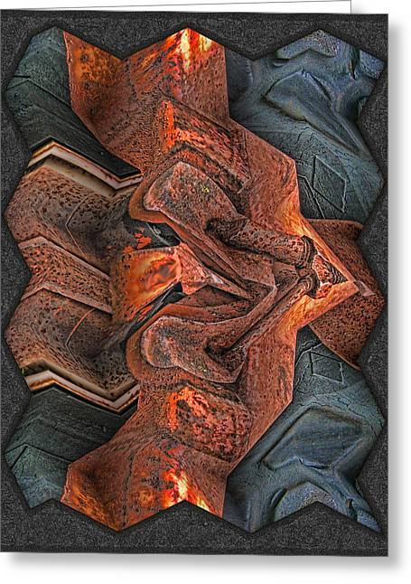 Rust Flow Greeting Card