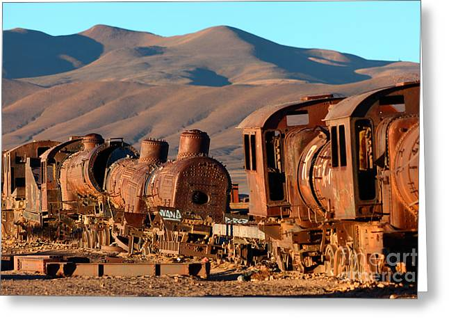 Rust In Peace Greeting Card by James Brunker