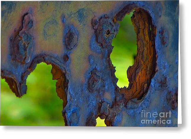 Rust In Peace Greeting Card by Joy Hardee