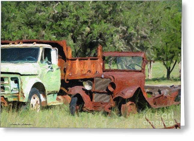 Rust In Peace No. 1 Greeting Card by Susan Schroeder