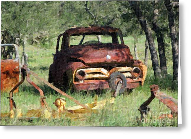 Rust In Peace No. 2 Greeting Card by Susan Schroeder