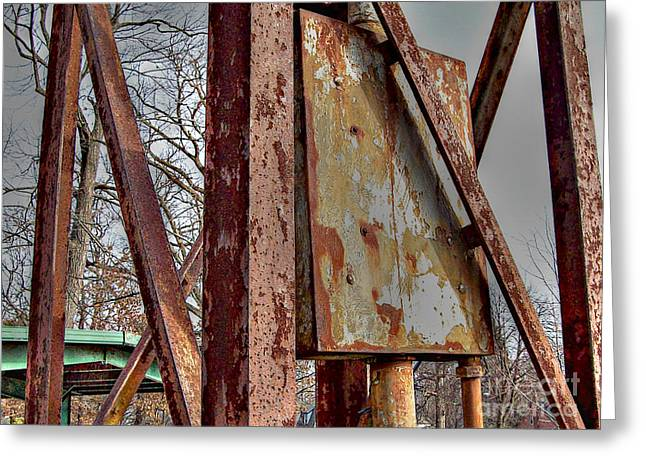 Rust Greeting Card by MJ Olsen