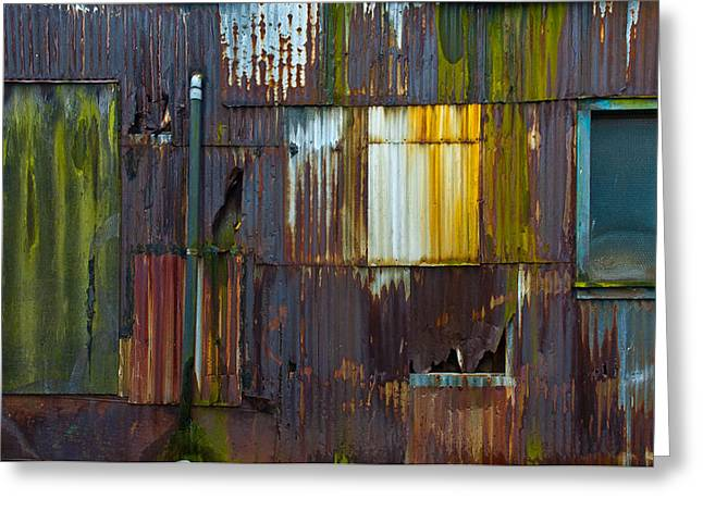 Rust Rainbow Greeting Card by Sarah Crites