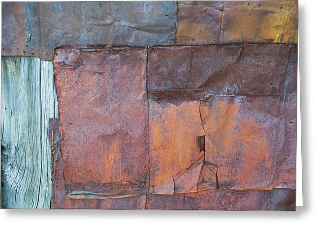 Rust Squared Greeting Card by Fran Riley