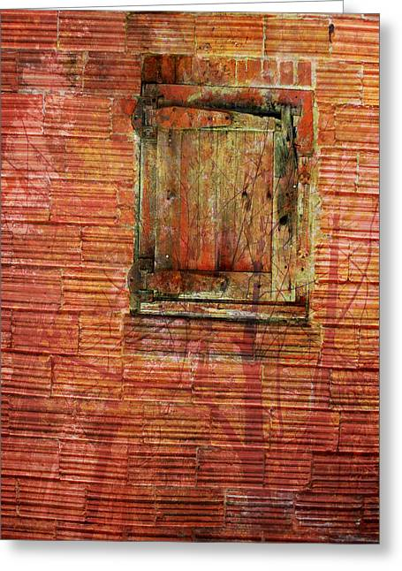 Rust Wall Greeting Card by Lyn  Perry