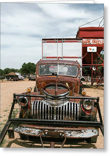 Rusted Abandoned Antique Truck Greeting Card