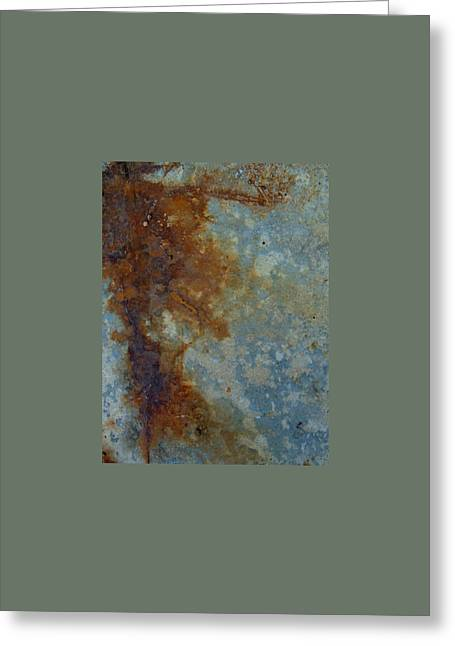 Rusted Abstract 1 Greeting Card by Denise Clark
