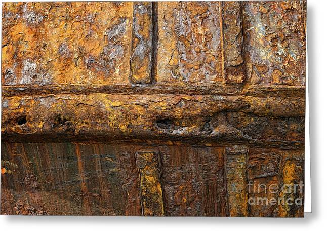 Rusted Fishing Boat Greeting Card by John Greim