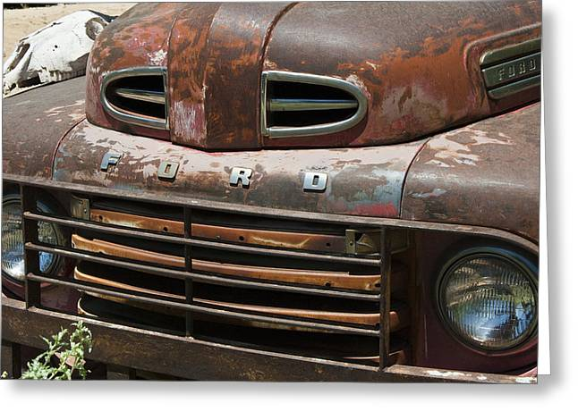 Rusted Ford In Hackberry Greeting Card