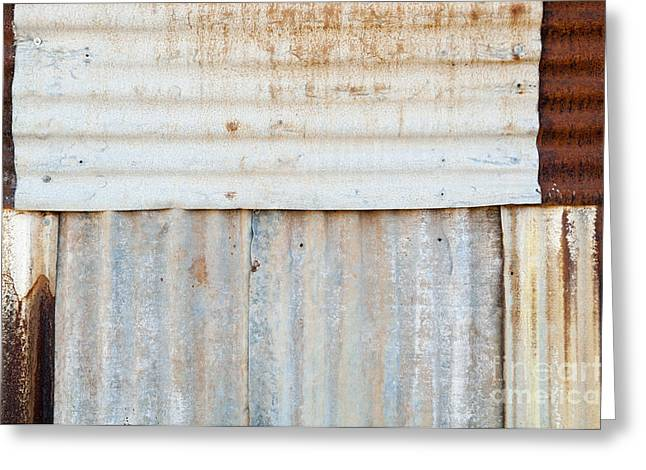 Rusted Metal Background Greeting Card by Tim Hester
