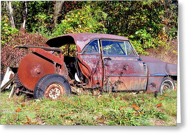 Rusted Old Car Greeting Card