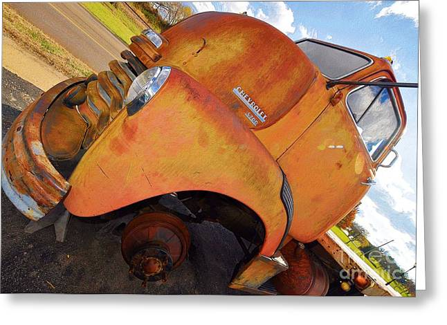 Rusted Out Chevrolet 5700 Greeting Card by Liane Wright