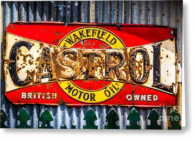 Rusted Sign Greeting Card by Perry Webster