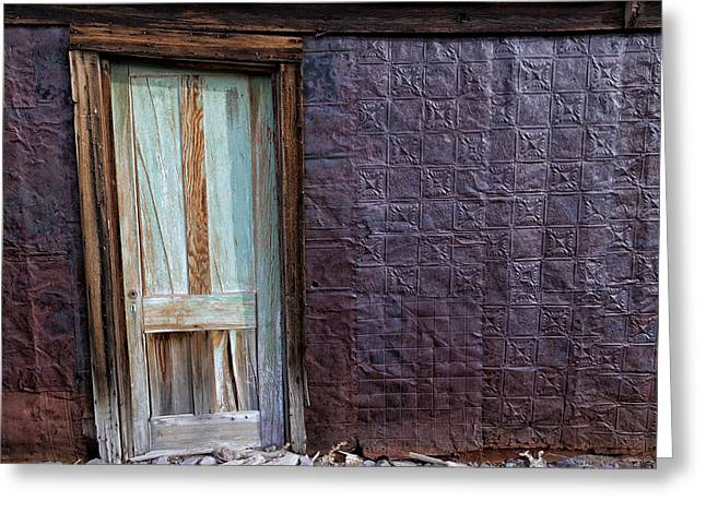 Rusted Tin Exterior In Bodie Greeting Card