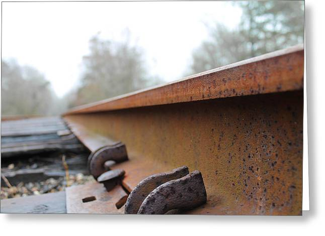 Rusted Track Greeting Card