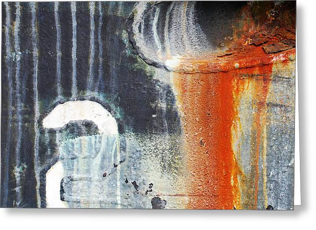 Rusted Waterfall Greeting Card by Jani Freimann