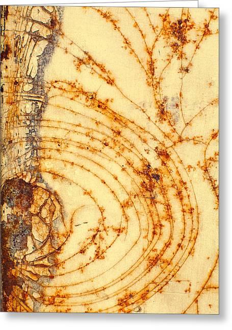 Rusted Web Greeting Card by Rebecca Skinner