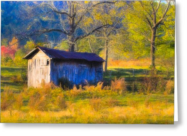 Rustic Autumn Landscape In North Georgia Greeting Card by Mark E Tisdale