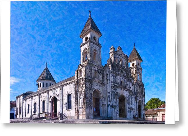 Rustic Baroque Church - Iglesia De Guadalupe Greeting Card by Mark E Tisdale