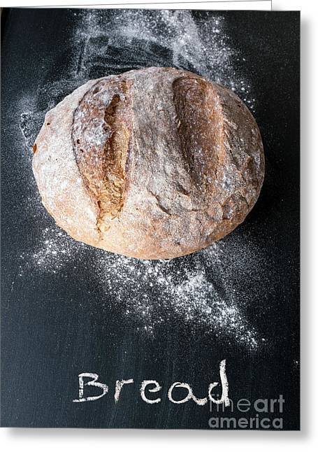 Rustic Bread Greeting Card by Viktor Pravdica