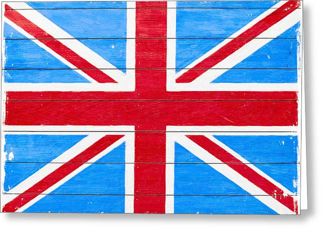 Rustic British Union Jack - Vintage Flag Greeting Card by Mark E Tisdale