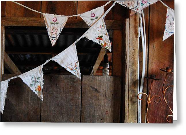 Rustic Bunting Greeting Card