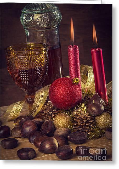 Rustic Christmas Greeting Card by Carlos Caetano