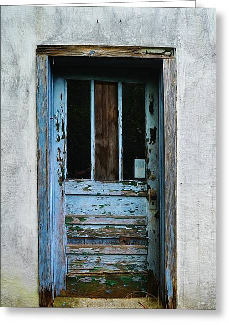Rustic Door Greeting Card