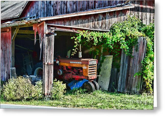 Rustic Farmall Tractor Greeting Card