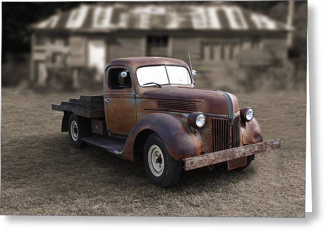 Greeting Card featuring the photograph Rustic Ford Truck by Keith Hawley