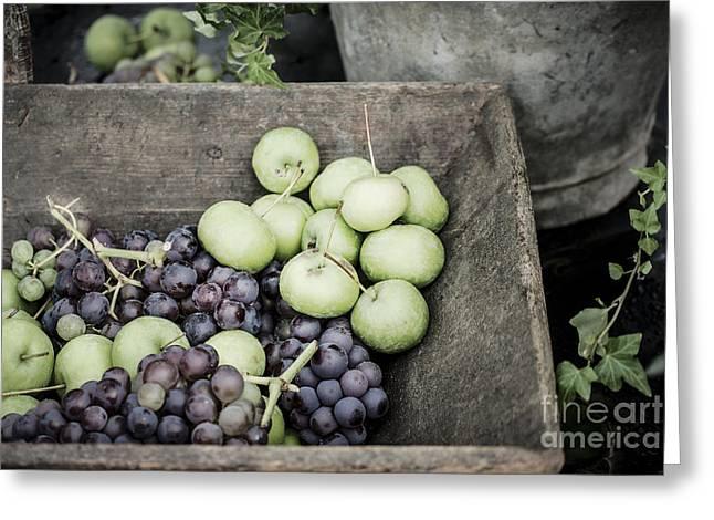 Rustic Fruit Greeting Card by Antony McAulay