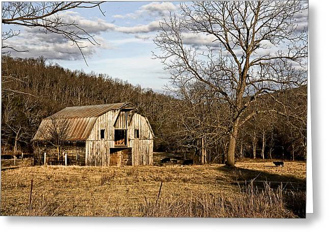 Greeting Card featuring the photograph Rustic Hay Barn by Robert Camp